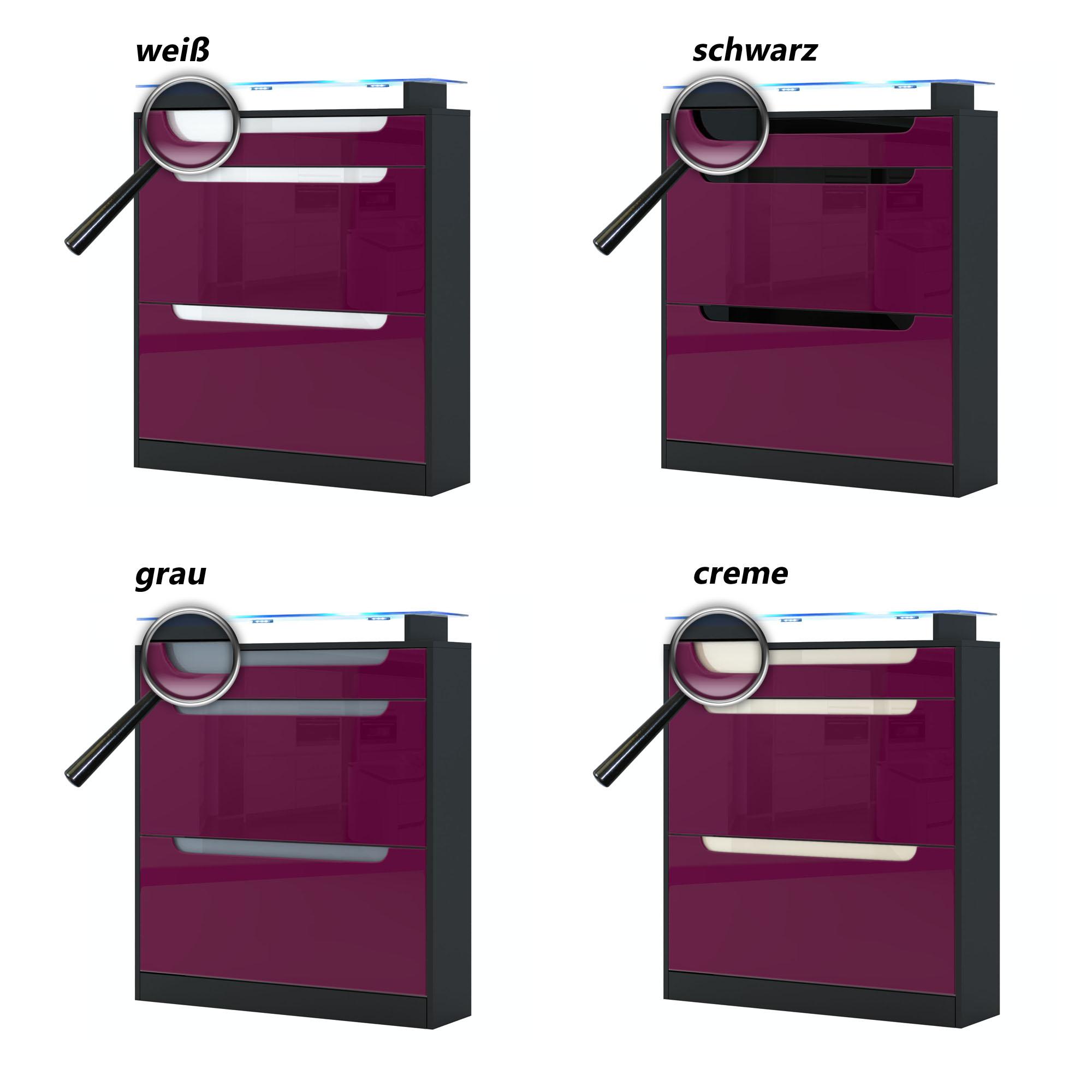 schuhschrank schuhkipper schuhregal regal flur schrank fiesta schwarz hochglanz ebay. Black Bedroom Furniture Sets. Home Design Ideas