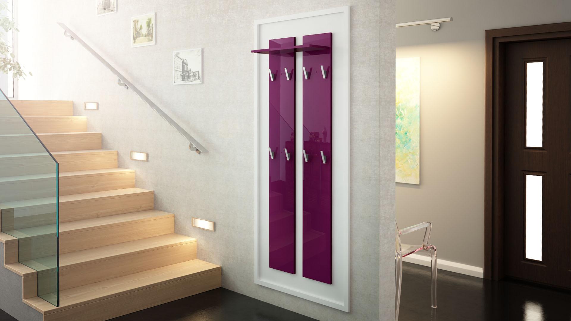 garderobenpaneel wandgarderobe garderobe wandpaneel 170 hochglanz naturt ne ebay. Black Bedroom Furniture Sets. Home Design Ideas