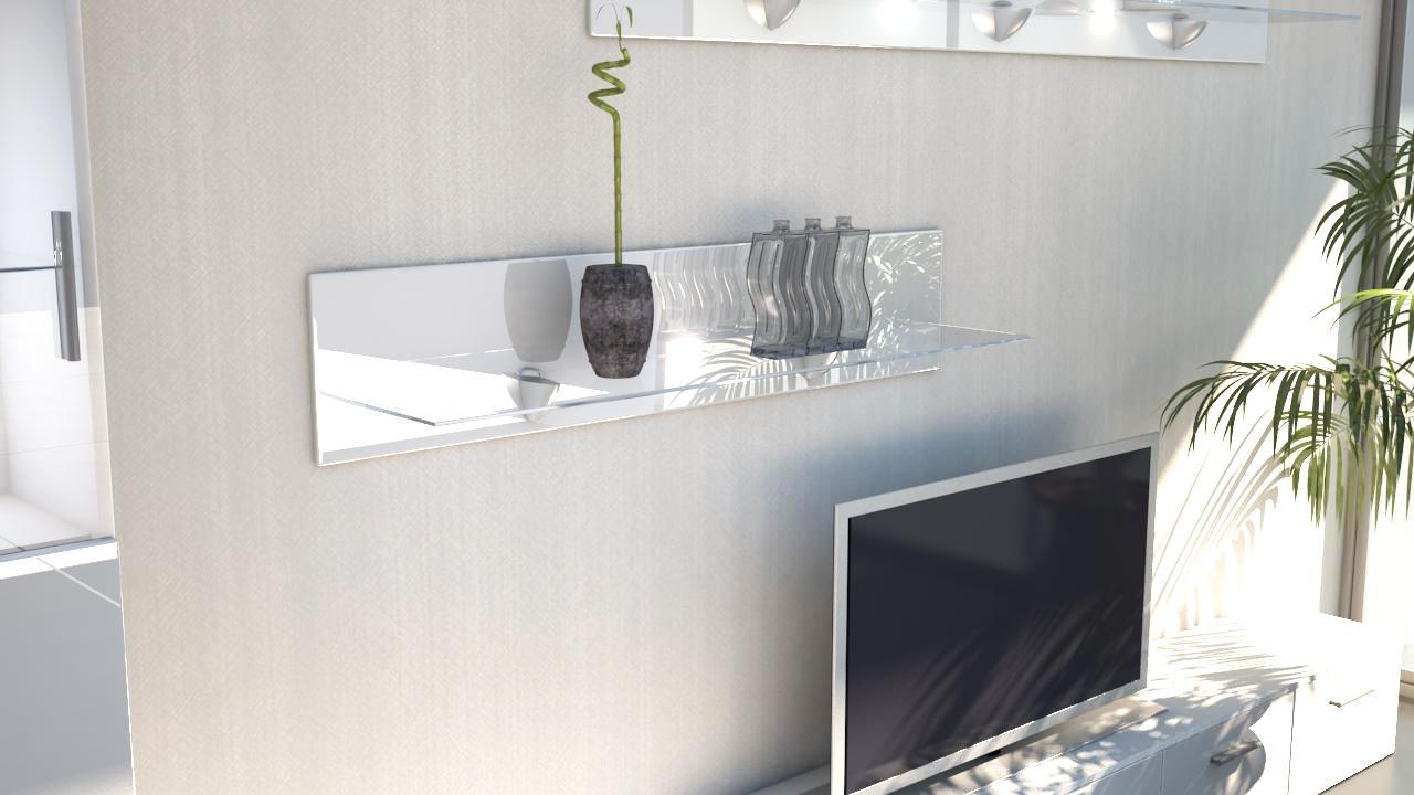 wandregal wandpaneel h ngeregal wandboard regal bari 14 hochglanz naturfarben ebay. Black Bedroom Furniture Sets. Home Design Ideas