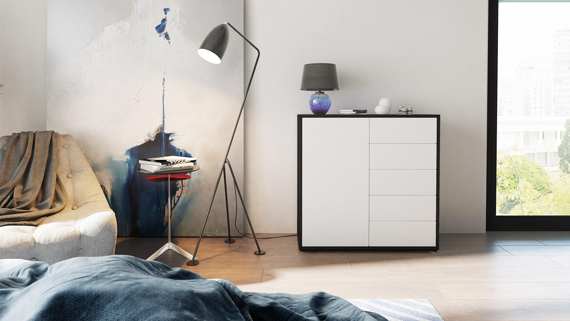 schwarze hochglanz kommode kommode kasy 3 hochglanz. Black Bedroom Furniture Sets. Home Design Ideas