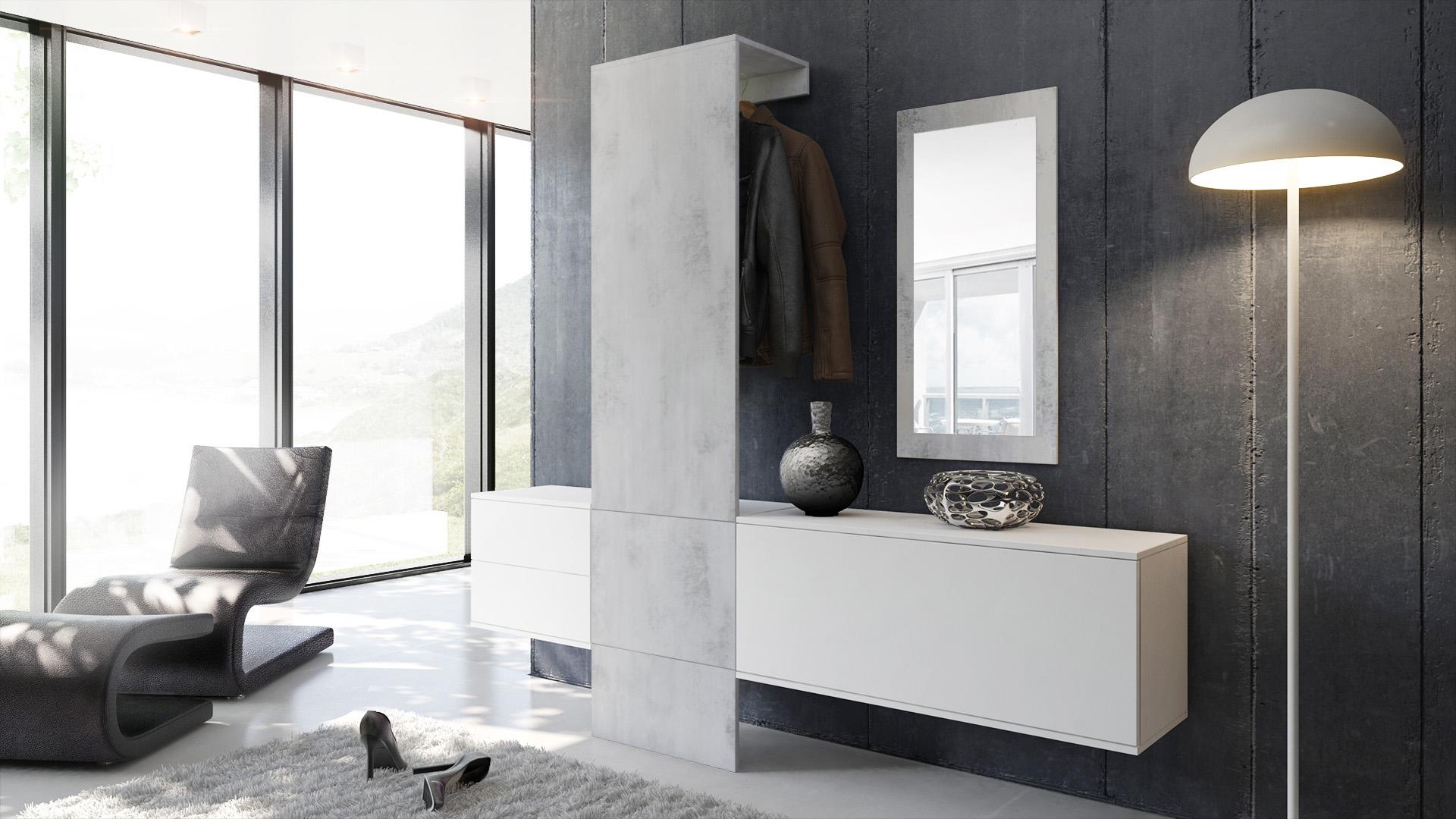 Garderobe garderobenset flur spiegel paneele carlton set 1 for Flur garderoben paneele