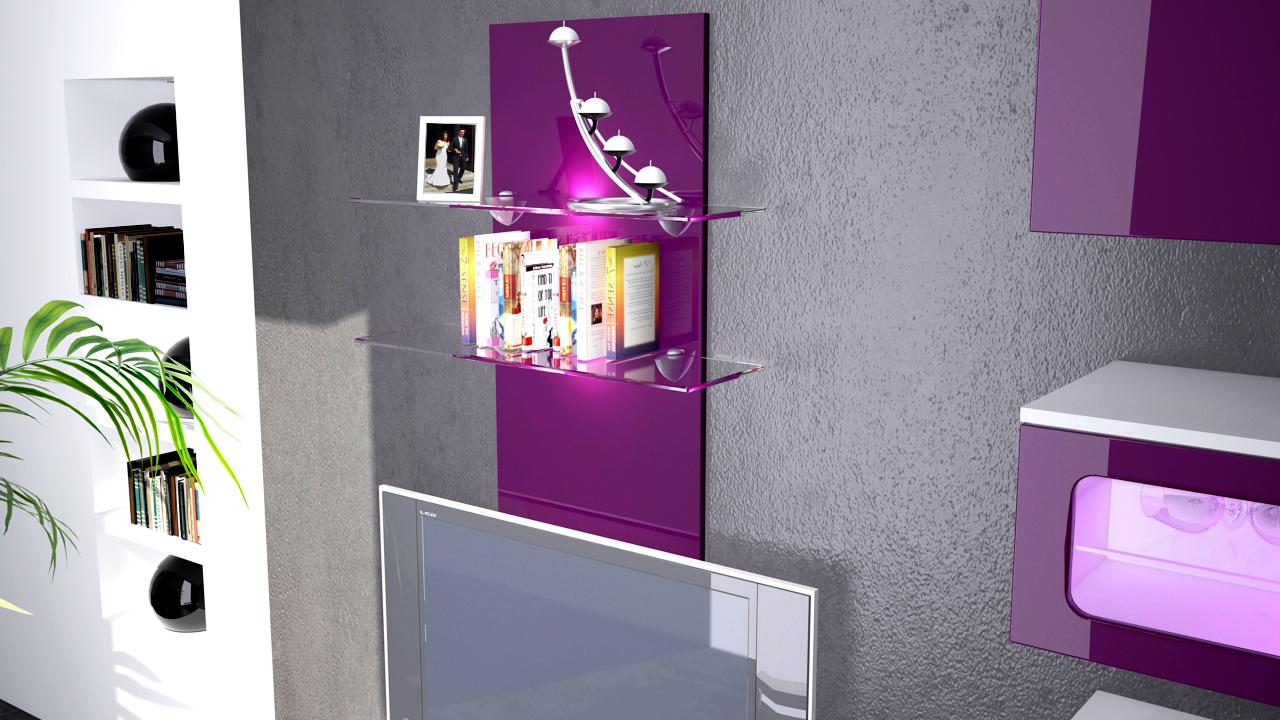wandregal wandpaneel h ngeregal wandboard glas boden ablage regal faro hochglanz ebay. Black Bedroom Furniture Sets. Home Design Ideas