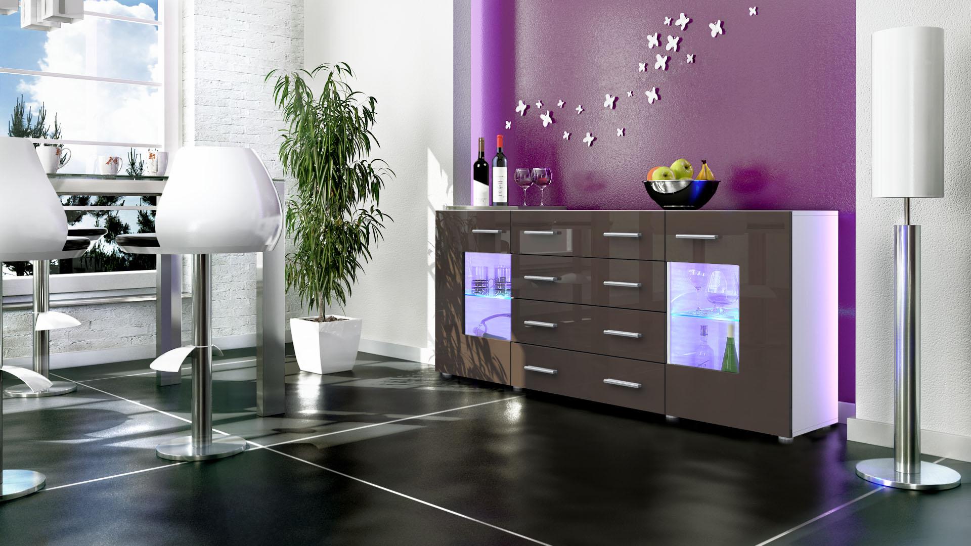 sideboard tv board anrichte kommode glas schrank m bel. Black Bedroom Furniture Sets. Home Design Ideas