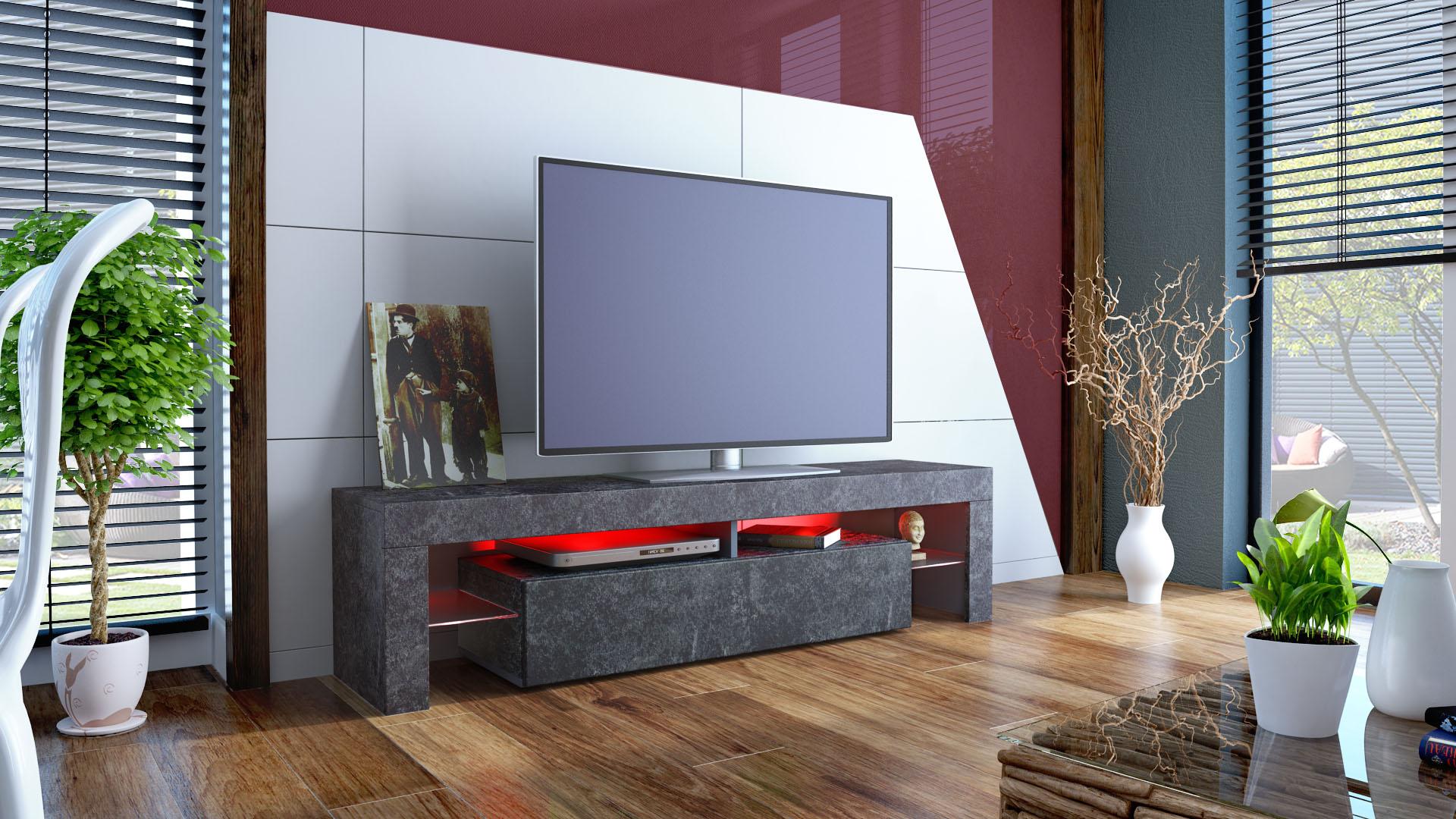 tv lowboard board fernseher schrank tisch m bel rack regal. Black Bedroom Furniture Sets. Home Design Ideas
