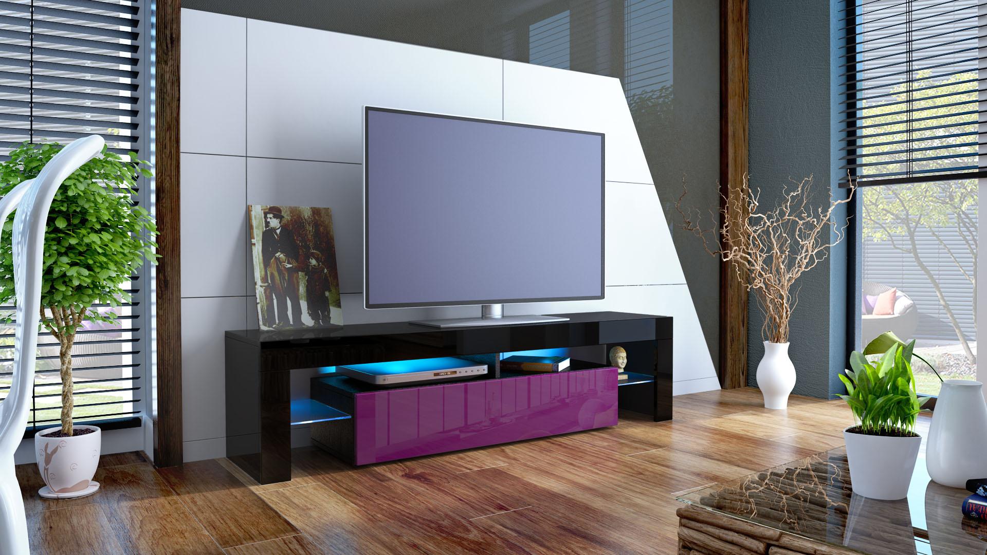 tv lowboard fernseh board schrank tisch m bel rack regal. Black Bedroom Furniture Sets. Home Design Ideas