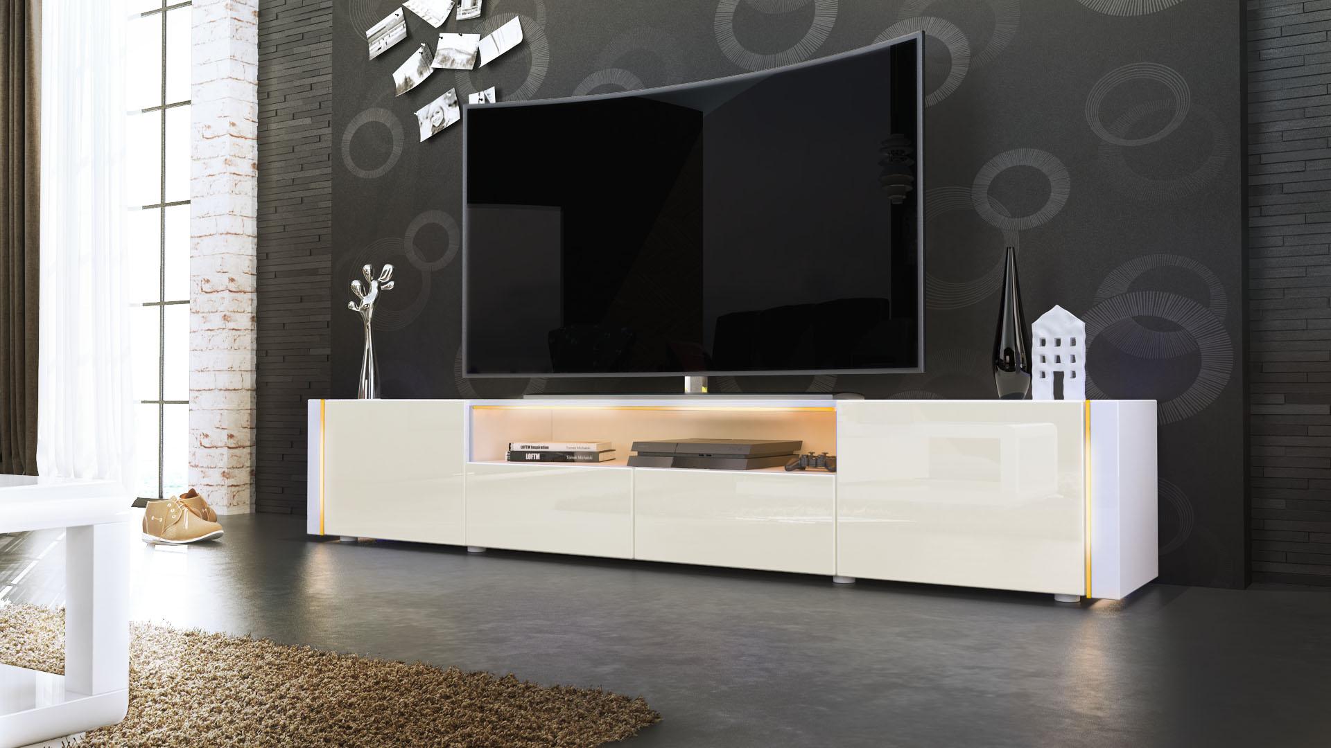 tv lowboard fernseh board schrank tisch m bel rack marino v2 wei hochglanz ebay. Black Bedroom Furniture Sets. Home Design Ideas