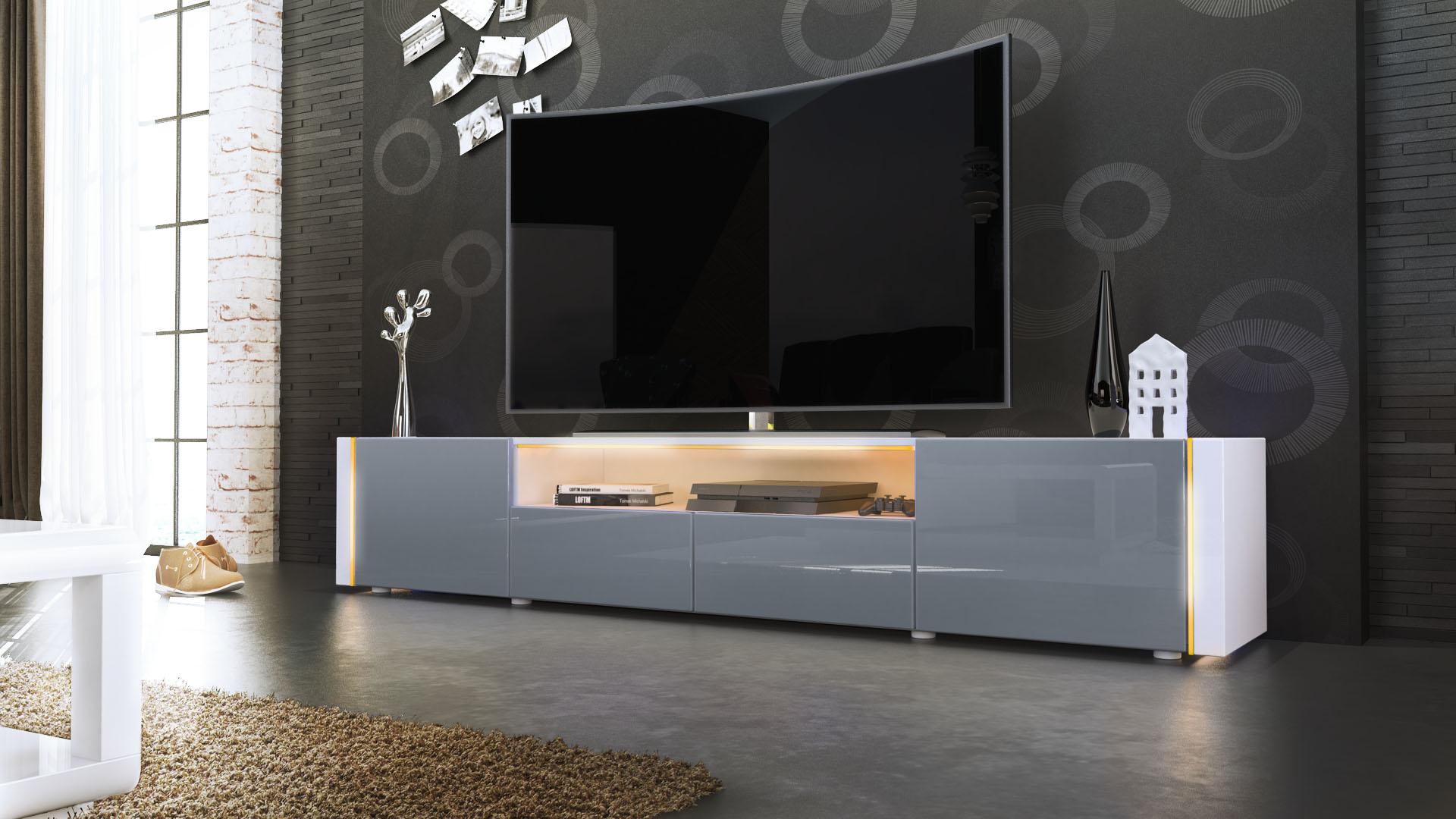 tv lowboard fernseh board schrank tisch m bel rack marino. Black Bedroom Furniture Sets. Home Design Ideas