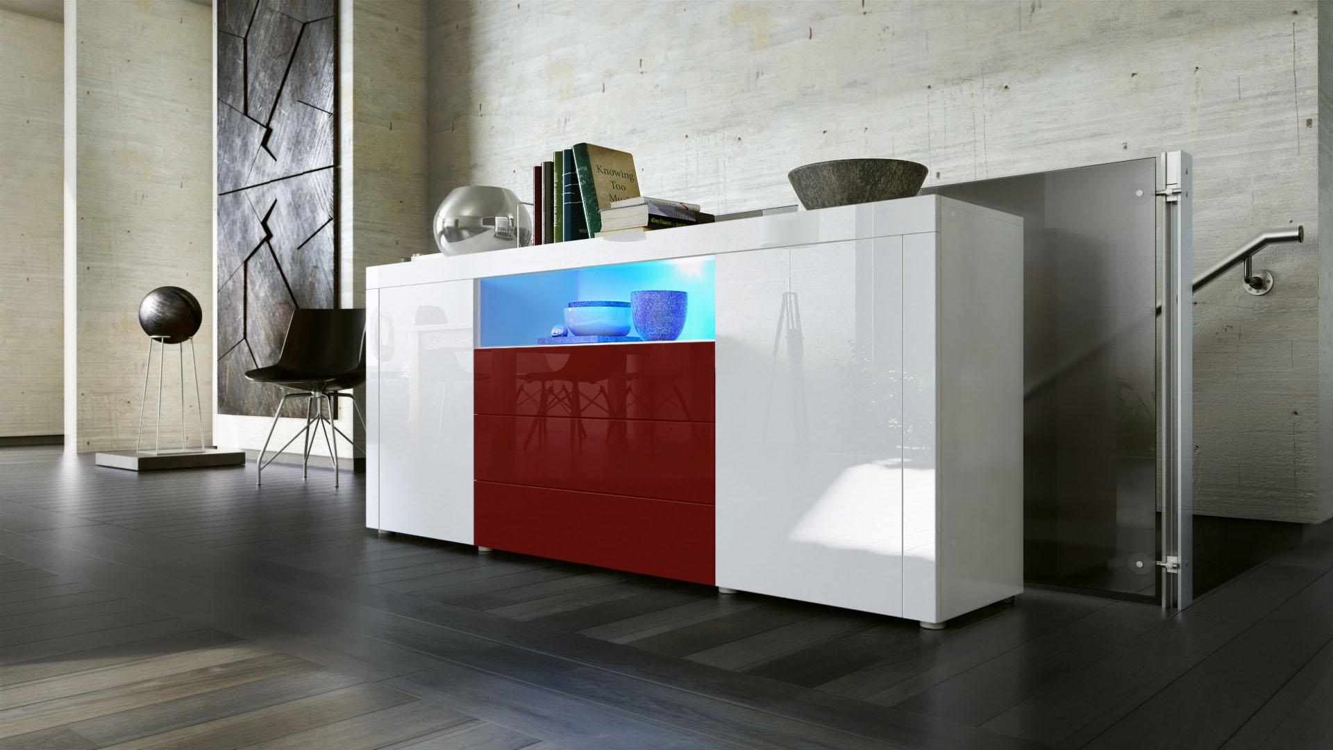 sideboard tv m bel anrichte kommode 170cm t ren schrank. Black Bedroom Furniture Sets. Home Design Ideas
