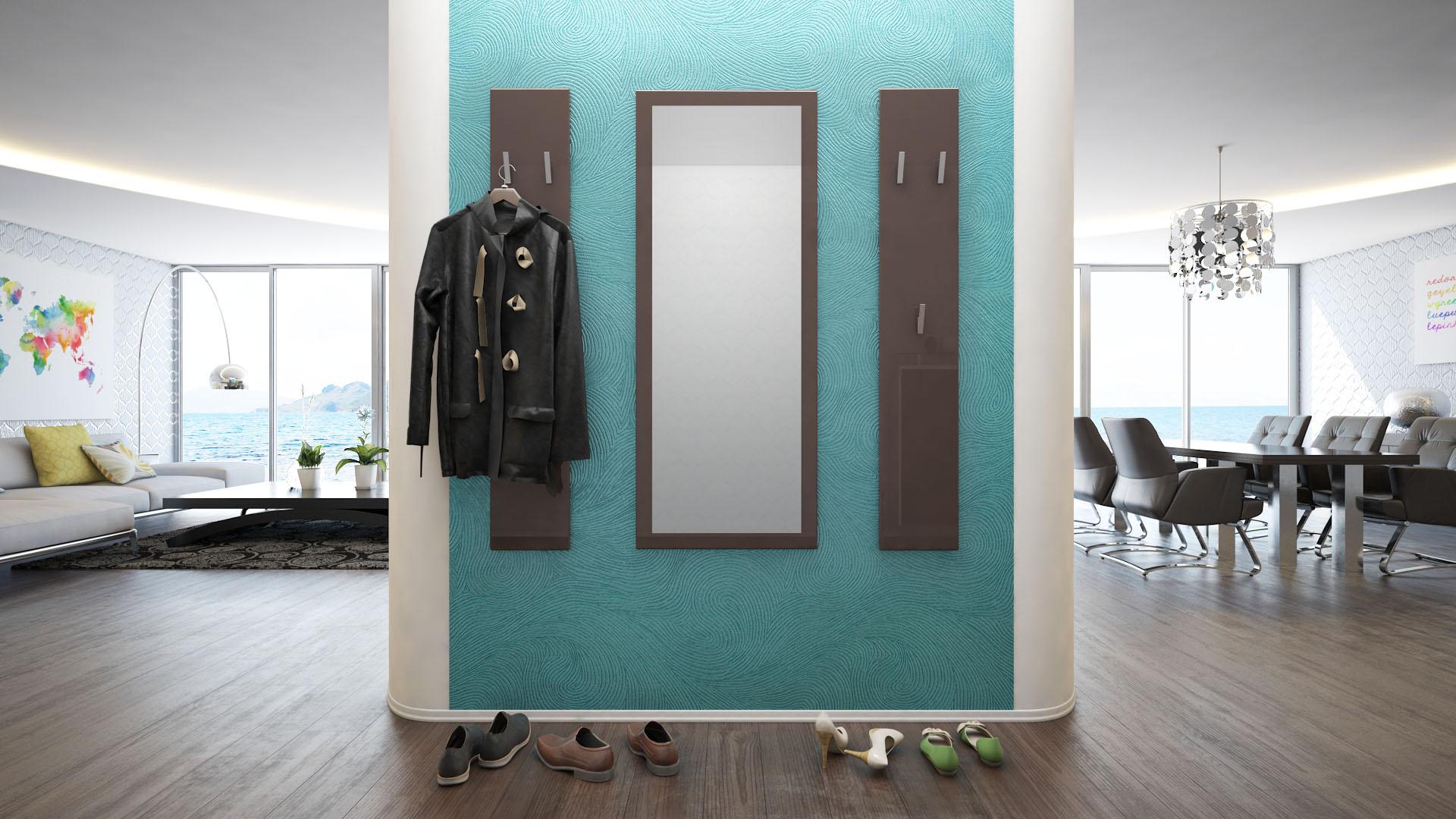garderoben set paneel wandgarderobe wandhaken spiegel flur. Black Bedroom Furniture Sets. Home Design Ideas