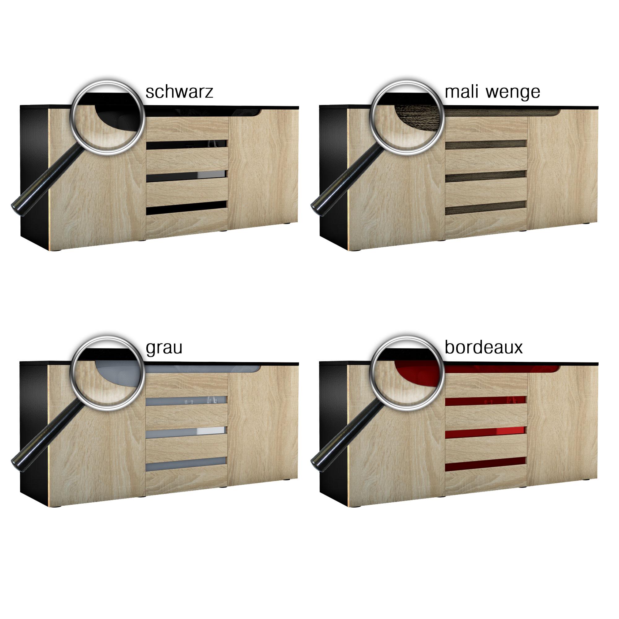 sideboard tv board anrichte kommode sylt schwarz in. Black Bedroom Furniture Sets. Home Design Ideas