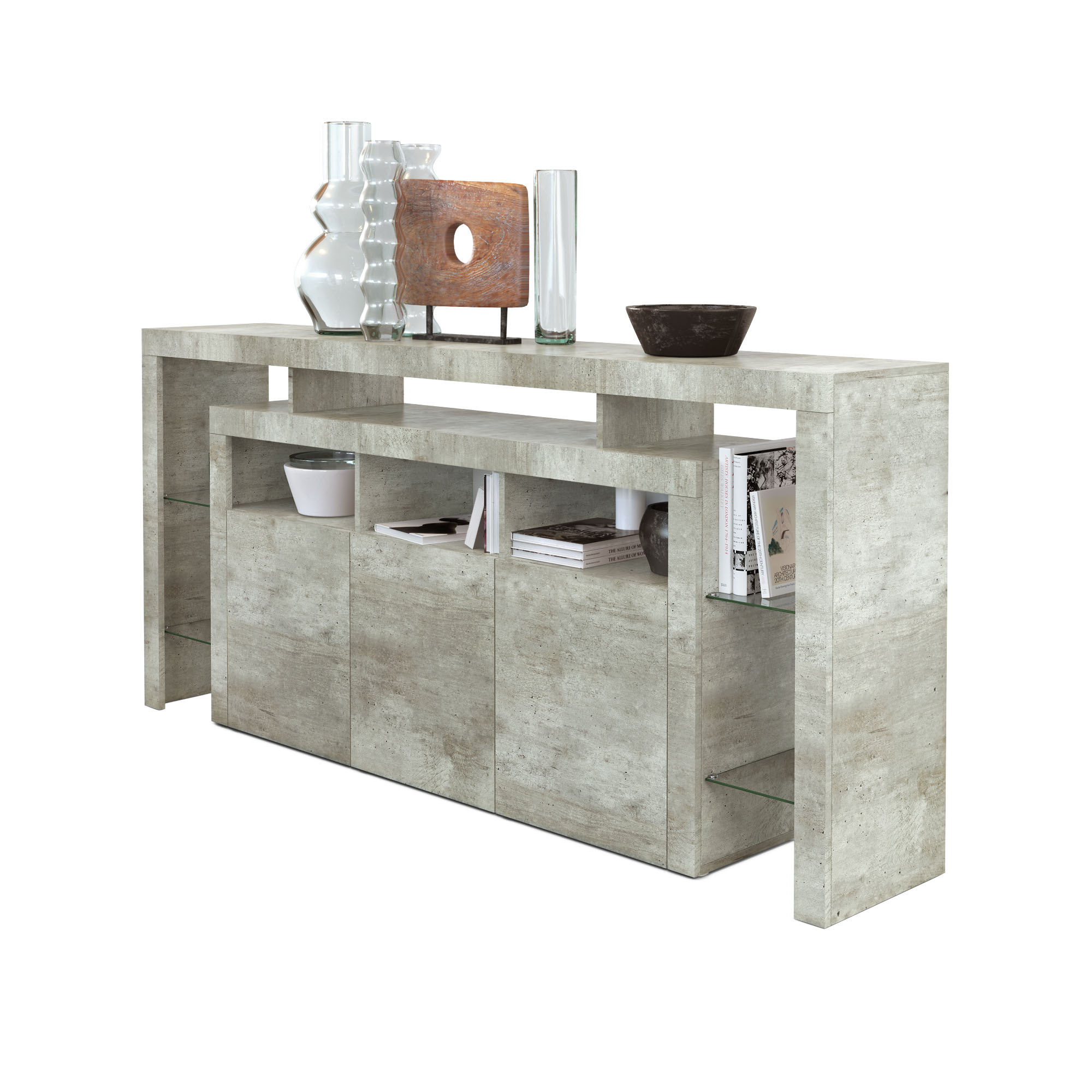 sideboard beton trendy sideboard beton gardonocom lowboard beton sidebord med betongskiva with. Black Bedroom Furniture Sets. Home Design Ideas